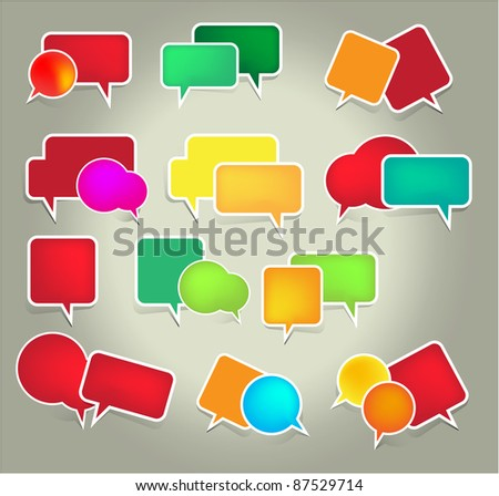 Set of speech vector elements