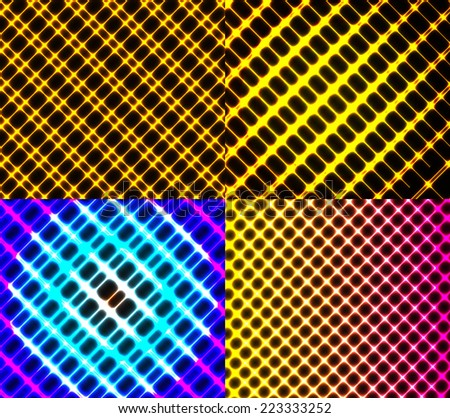 Set of splash color abstract  glowing  background. EPS10. Vector illustration - stock vector
