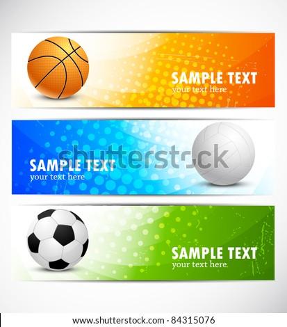 Set of sport banners - stock vector