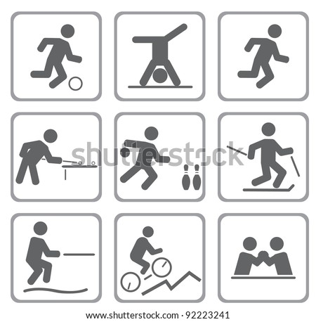 Set of sport icons. Vector illustration