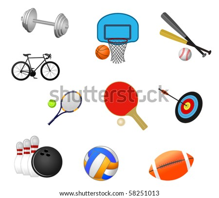 Set of sport symbols. Jpeg version also available in gallery - stock vector