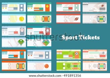 Sports Ticket Images RoyaltyFree Images Vectors – Sport Ticket Template