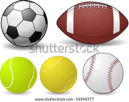 Set of Sports Balls - vector illustration - stock vector