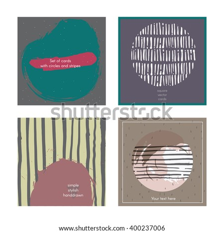 Yokunens cards banners business cards set on shutterstock set of square cards handdrawn decorated with liquid ink brush splashes blots colourmoves