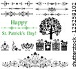 Set of St. Patrick's Day. Collection of design elements isolated on White background. Vector illustration - stock vector