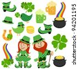 Set of St. Patrick's Day Design Elements - stock vector