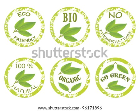 Set of stamp template - stock vector