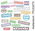 Set of stamp vector - stock photo
