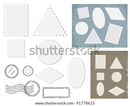 Set of stamps - stock vector