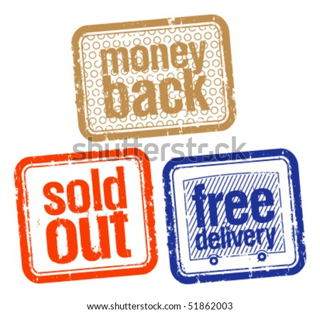 set of stamps for best sales - stock vector
