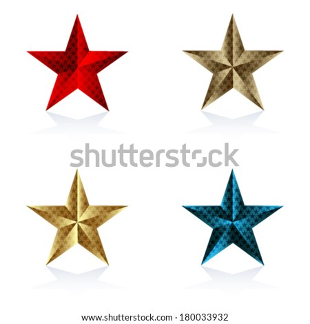 Set of Star on the white background - stock vector
