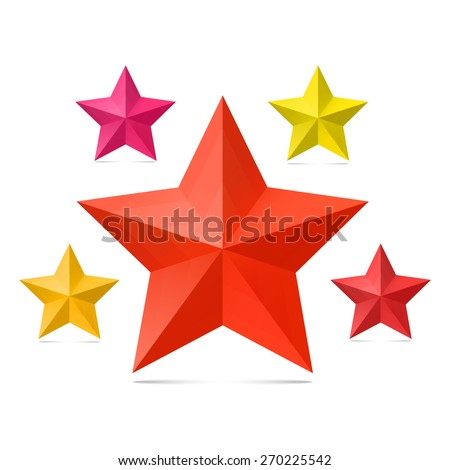 Set of  stars on a white background. - stock vector