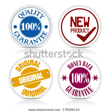set of 4 stickers for Communication