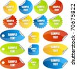 set of stickers or tags - stock vector