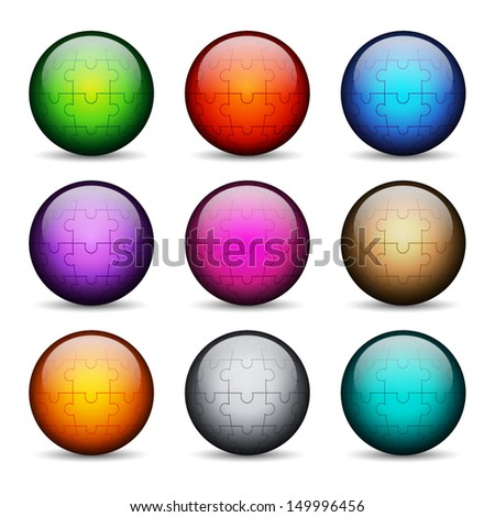 Set of stylized glossy buttons. EPS10 vector