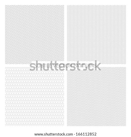 set of subtle vector patterns - stock vector