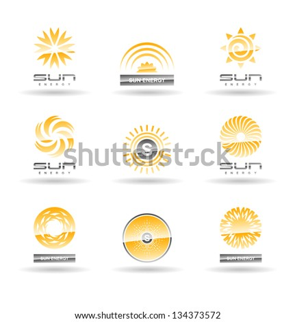 Set of sun icons. Vol 3. - stock vector