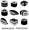 Set of sushi - stock vector