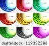 Set of swirl backgrounds - stock vector