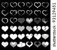 Set of symbol heart, vector - stock vector