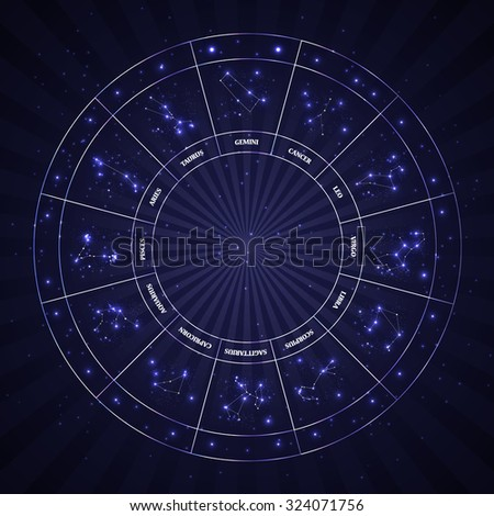 Set of Symbol Zodiac Sign. Vector Illustration. EPS10