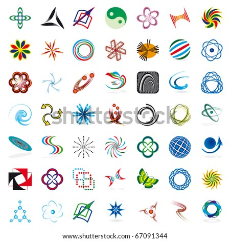 Set of symbols for the business. Vector illustration