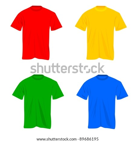 Set of t-shirts - stock vector