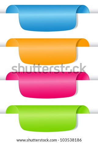 Set of tag labels. Vector  illustration - stock vector