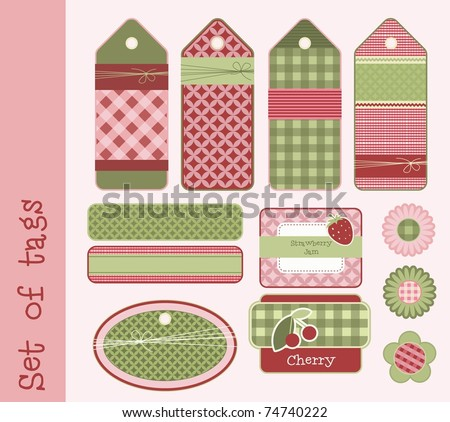 Set of tags and labels, vector - stock vector