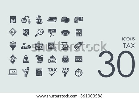 Set of tax icons - stock vector