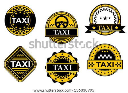 Set of taxi symbols for transportation service design, also for template. Jpeg (bitmap) version also available in gallery