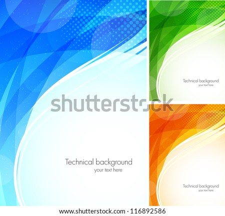 Set of tech backgrounds - stock vector