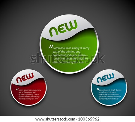 Set of template banner. Illustration on layout for design. - stock vector