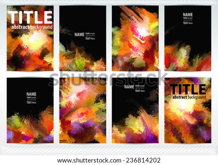 set templates brochure cover sheets posters stock vector 236814202