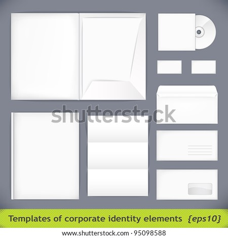Set of templates corporate identity. vector illustration (eps10) - stock vector