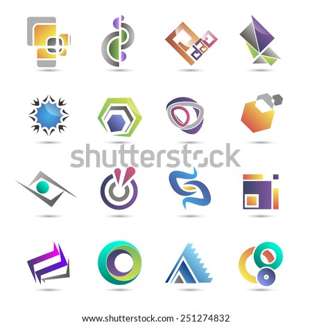 Set of templates gradient logos. EPS 10. Vector Illustration.  - stock vector