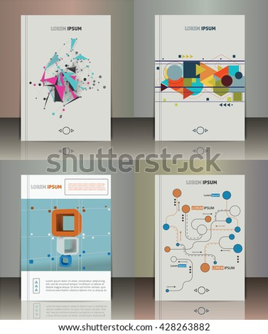 Set of the abstract brochure design. Vector illustration. Infographic elements. - stock vector