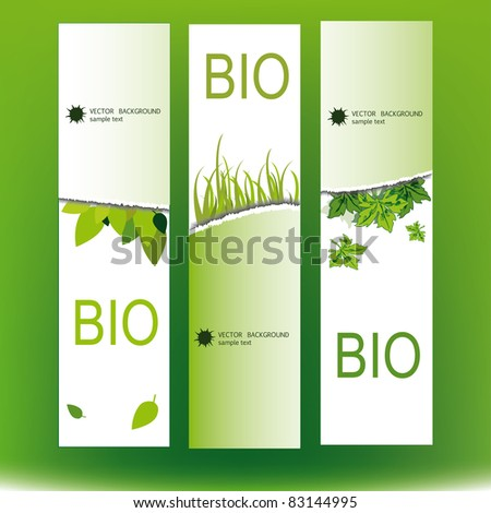 Set of the bio banners - stock vector