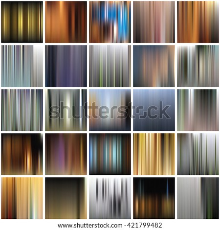 Set of the blurred vertical abstract backgrounds - stock vector