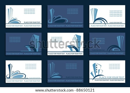 Set of the Business cards - stock vector