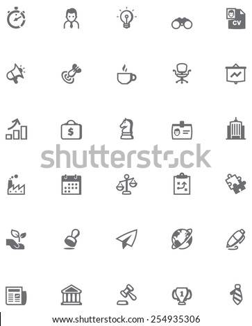 Set of the business related icons - stock vector