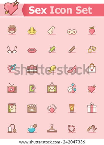 Set of the sex related icons - stock vector