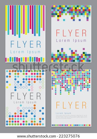 Set of the vector  business brochure or magazine cover  template - stock vector