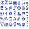Set of thirty business icons - stock vector
