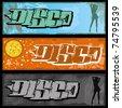 Set of three graffiti banners. - stock vector