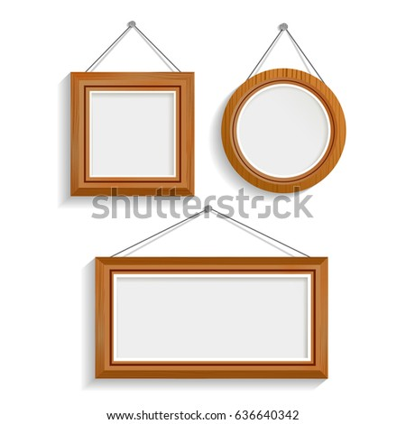 Set Three Realistic Luxury Interior Frames Stock Vector (Royalty ...