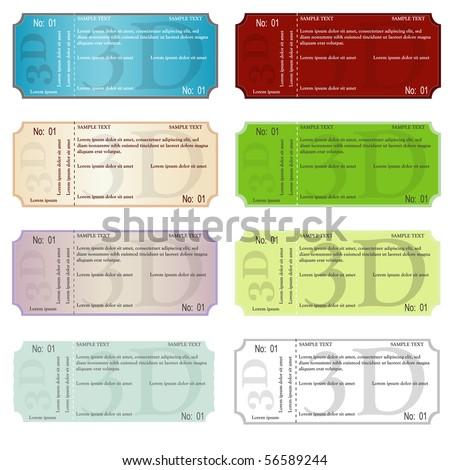 set of ticket vector illustration - stock vector