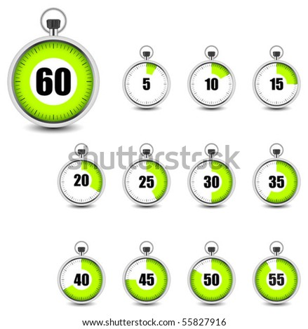 Set of timers - stock vector