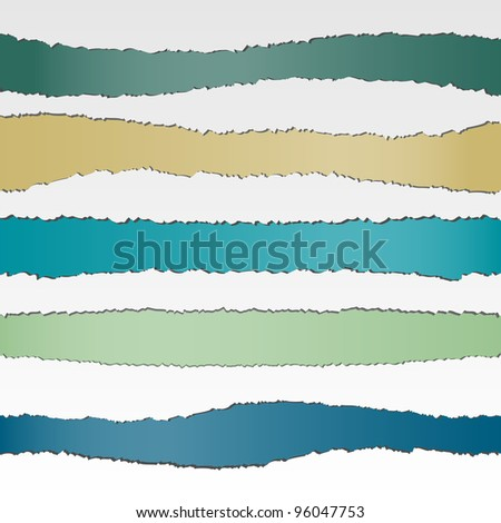 Set of torn paper banners with space for text.Vector eps10 - stock vector
