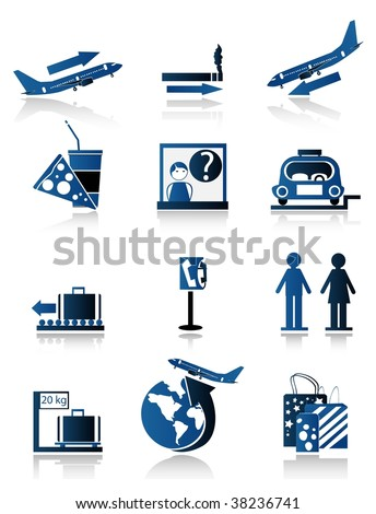set of travel icons,easy to edit or to resi ze,the shadow and the icons are set on a different layer - stock vector